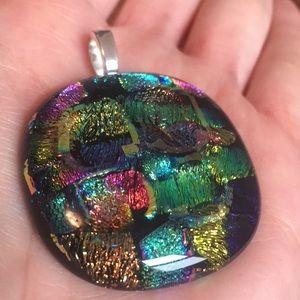 🥰Large Dichroic Glass Pendant